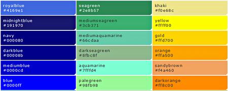 カラーコードイメージ